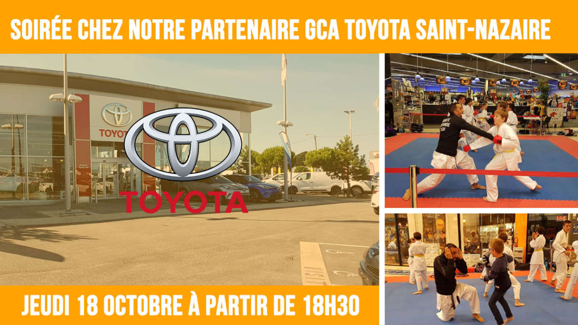 soir e chez notre partenaire sponsor gca toyota saint nazaire timing karat club de gu rande. Black Bedroom Furniture Sets. Home Design Ideas