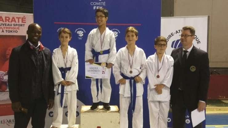 2 vice-champions départementaux Kata